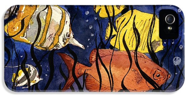 Coral Fishes Seaweed IPhone 5 Case by Juan  Bosco