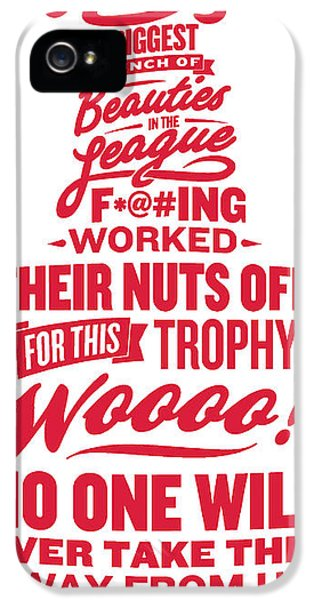 Chicago iPhone 5 Case - Corey Crawford Cup Speech by The Heckler