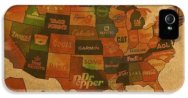 Corporate America Map IPhone 5 Case by Design Turnpike