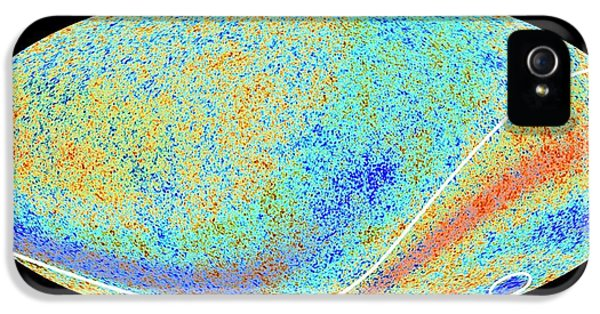 Cosmic Microwave Background Anomalies IPhone 5 Case by Esa Planck Collaboration