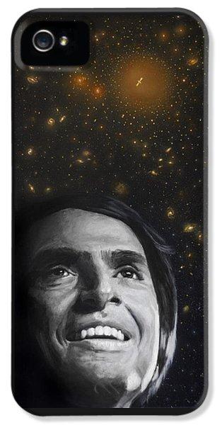 Cosmos- Carl Sagan IPhone 5 Case by Simon Kregar
