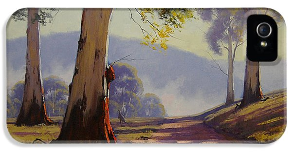 Kangaroo iPhone 5 Case - Country Road Australia by Graham Gercken