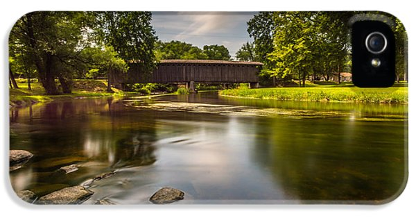 Covered Bridge Long Exposure IPhone 5 Case by Randy Scherkenbach