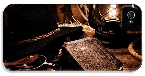 Cowboy Bible IPhone 5 Case by Olivier Le Queinec