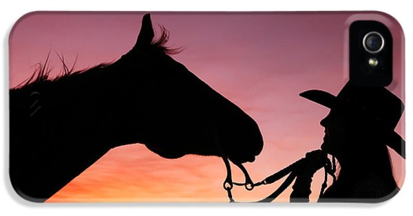 Horse iPhone 5 Case - Cowgirl Sunset by Todd Klassy
