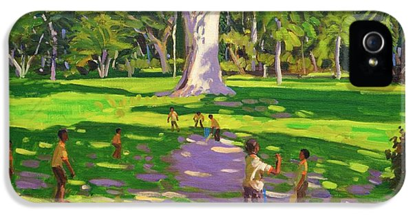 Cricket iPhone 5 Case - Cricket Match St George Granada by Andrew Macara