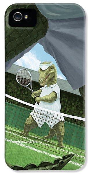 Crocodiles Playing Tennis At Wimbledon  IPhone 5 Case by Martin Davey