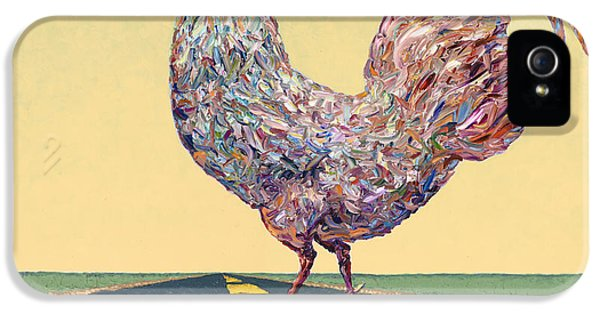 Rooster iPhone 5 Case - Crossing Chicken by James W Johnson