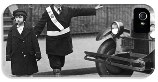 Crossing Guard Stops Traffic IPhone 5 Case by Underwood Archives