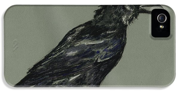 Crow iPhone 5 Case - Crow by Juan  Bosco
