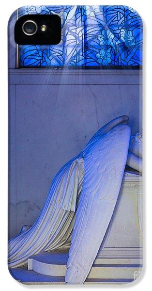 Crying Angel IPhone 5 Case by Inge Johnsson