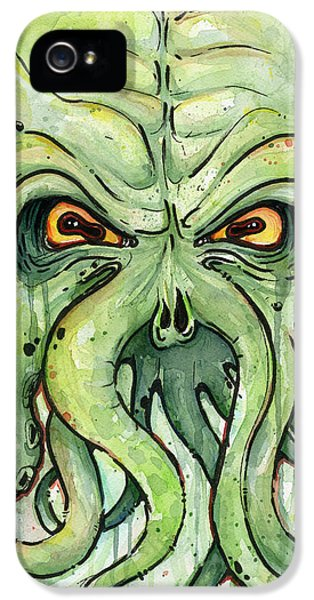 Cthulhu Watercolor IPhone 5 Case