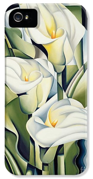 Cubist Lilies IPhone 5 Case by Catherine Abel