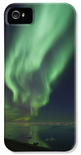 Curtains Of Aurora Borealis IPhone 5 Case by Hugh Rose