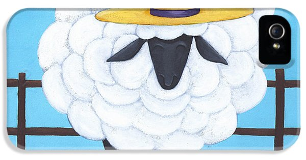 Cute Sheep Nursery Art IPhone 5 Case by Christy Beckwith