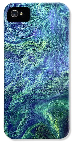 Cyanobacteria Bloom IPhone 5 Case by Nasa