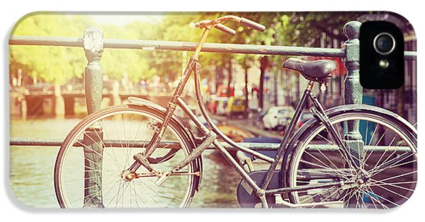 Bicycle iPhone 5 Case - Cycle In Sun by Jane Rix