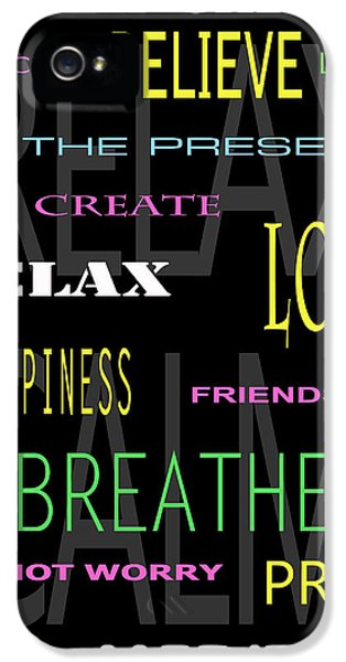 Breathe iPhone 5 Case - D I Y Anxiety Therapy by Daniel Hagerman