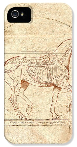 Animals iPhone 5 Case - da Vinci Horse in Piaffe by Catherine Twomey