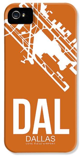 Dallas iPhone 5 Case - Dal Dallas Airport Poster 2 by Naxart Studio