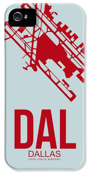 Dallas iPhone 5 Case - Dal Dallas Airport Poster 3 by Naxart Studio