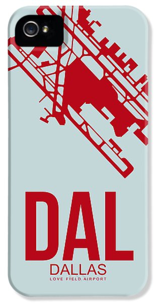 Dallas iPhone 5 Case - Dal Dallas Airport Poster 4 by Naxart Studio