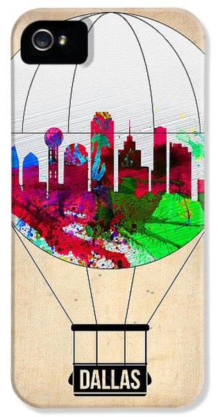 Dallas iPhone 5 Case - Dallas Air Balloon by Naxart Studio