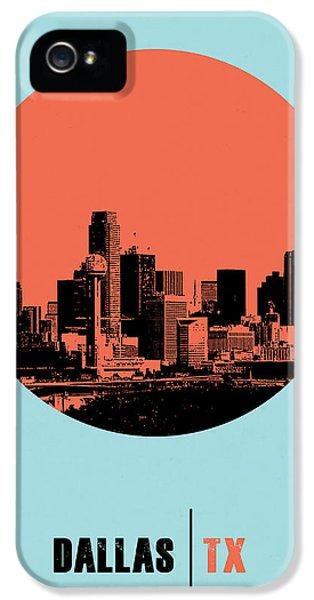 Dallas iPhone 5 Case - Dallas Circle Poster 1 by Naxart Studio