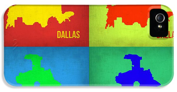 Dallas iPhone 5 Case - Dallas Pop Art Map 1 by Naxart Studio