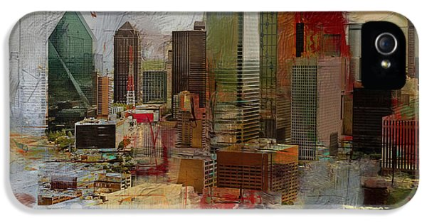 Dallas Skyline 003 IPhone 5 / 5s Case by Corporate Art Task Force