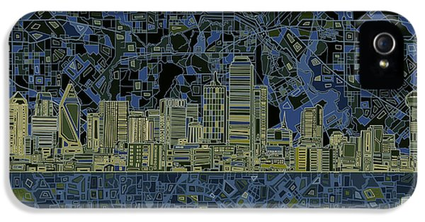 Dallas Skyline Abstract 2 IPhone 5 Case