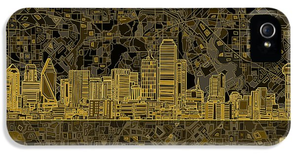 Dallas Skyline Abstract 3 IPhone 5 Case