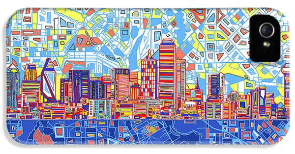 Dallas Skyline Abstract 5 IPhone 5 Case