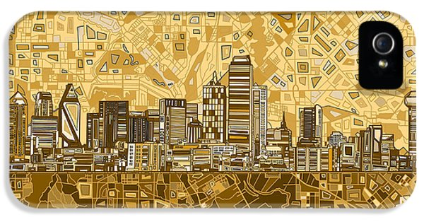 Dallas Skyline Abstract 6 IPhone 5 Case