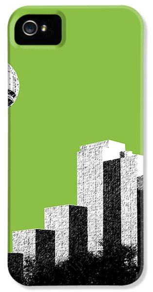 Dallas Skyline Reunion Tower - Olive IPhone 5 Case by DB Artist