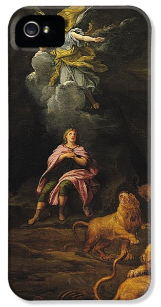 Dungeon iPhone 5 Case - Daniel In The Den Of Lions Oil On Canvas by Francois Verdier
