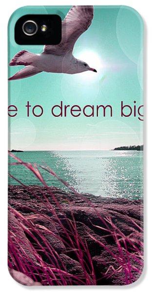 Dara To Dream Big  IPhone 5 Case by Mark Ashkenazi
