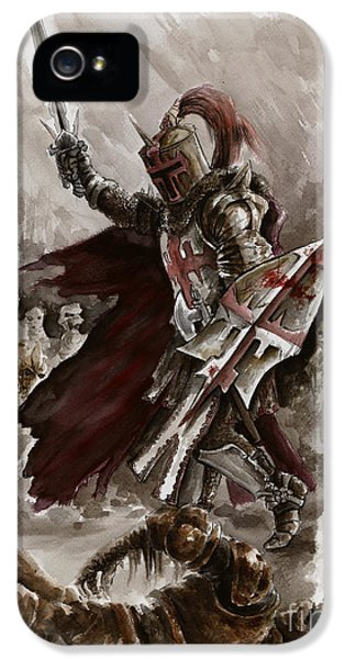 Dungeon iPhone 5 Case - Dark Crusader by Mariusz Szmerdt