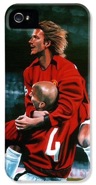 David Beckham And Juan Sebastian Veron IPhone 5 Case