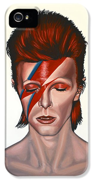 David Bowie Aladdin Sane IPhone 5 Case by Paul Meijering