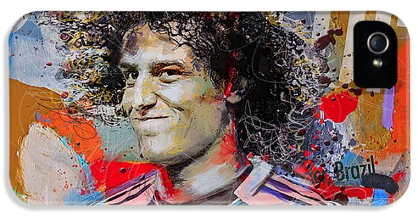 David Luiz IPhone 5 Case by Corporate Art Task Force