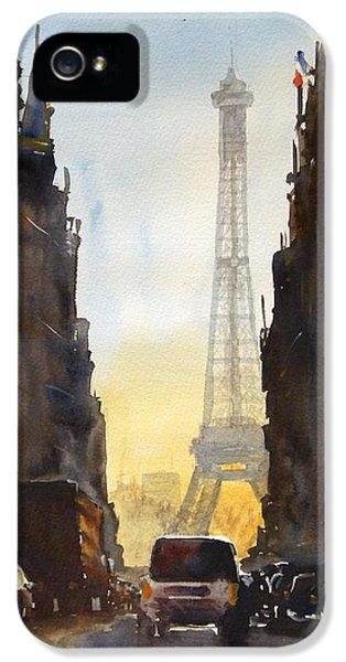 Paris iPhone 5 Case - Dawn In Paris by James Nyika