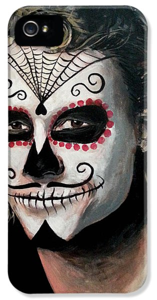Day Of The Dead - Heath Ledger IPhone 5 Case by Tom Carlton