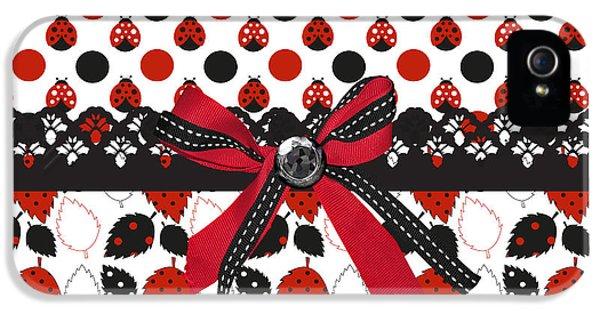 Dazzling Ladybugs  IPhone 5 / 5s Case by Debra  Miller