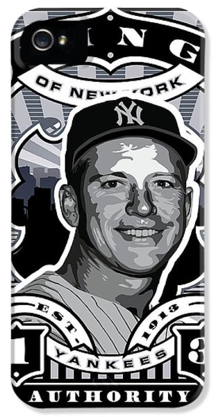 Dcla Mickey Mantle Kings Of New York Stamp Artwork IPhone 5 / 5s Case by David Cook Los Angeles