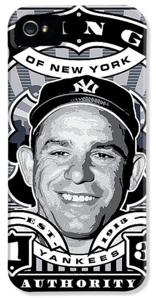 Dcla Yogi Berra Kings Of New York Stamp Artwork IPhone 5 / 5s Case by David Cook Los Angeles