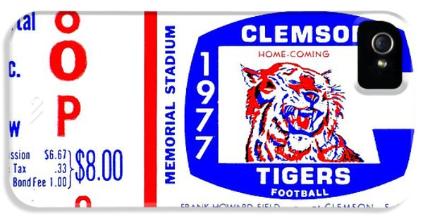 Clemson iPhone 5 Case - Death Valley 1977 by Benjamin Yeager