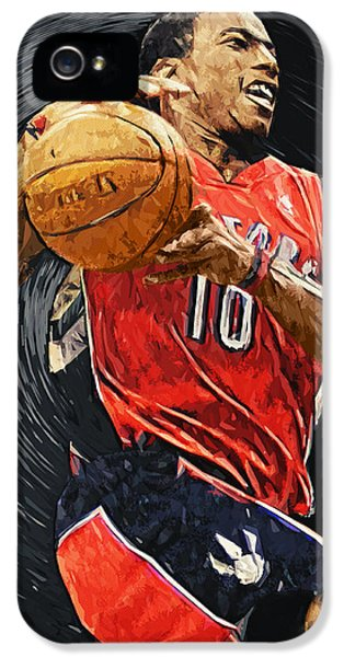 Demar Derozan IPhone 5 Case by Taylan Apukovska