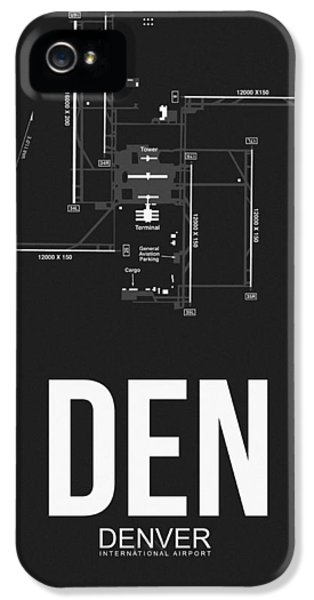 Denver Airport Poster 1 IPhone 5 Case by Naxart Studio