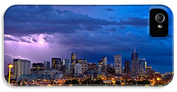 Denver Skyline IPhone 5 Case by John K Sampson